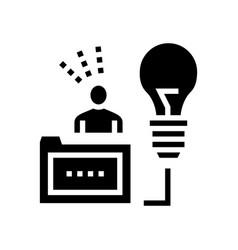 Human business idea glyph icon vector