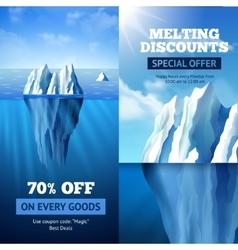 Iceberg Sale Banners vector image