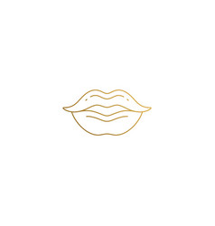 Icon human lips hand drawn with thin vector