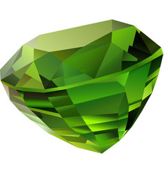 isolated green chrysolite vector image