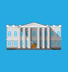 Library building book house isolated on blue vector