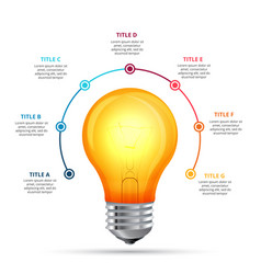 Lightbulb infographic design template vector