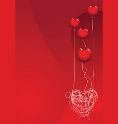 Love is a balloon vector