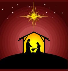 Mary and joseph with the baby jesus vector