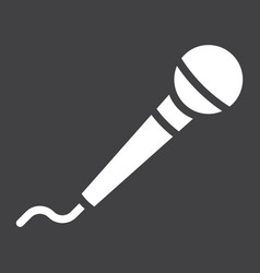 microphone glyph icon music and instrument vector image