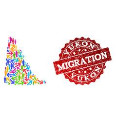 Migration composition mosaic map yukon vector