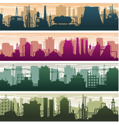 modern building gas and oil station power vector image