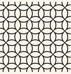 monochrome seamless pattern with circular mesh vector image