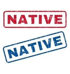Native Rubber Stamps vector
