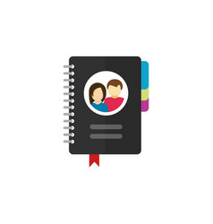 Notepad for contacts icon vector