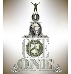 One Dollar Man vector