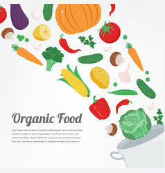 organic food vegetable food icons healthy eating vector image