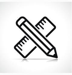 pencil symbol icon design vector image