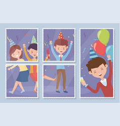 pictures people happy celebration party vector image