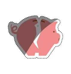 Piggy monet savings vector