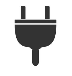 plug icon on white background plug sign flat vector image