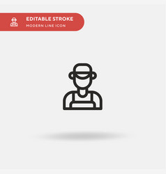 plumber simple icon symbol vector image