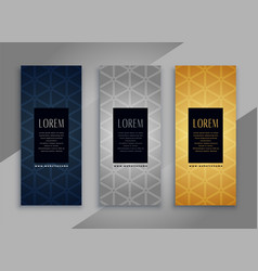 Premium vintage vertical cards or banners with vector
