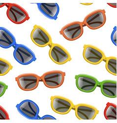 realistic 3d color sunglasses black lenses vector image