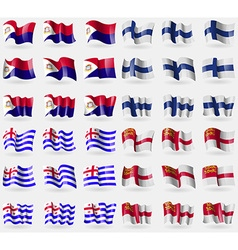 Saint martin finland ajaria sark set of 36 flags vector