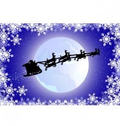 Santa's sled vector image