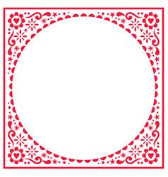 scandinavian folk greeting card pattern vector image