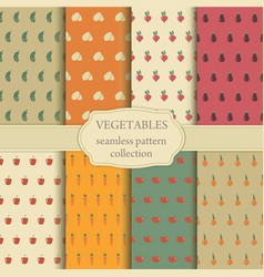 seamless backgrounds of vegetables vector image
