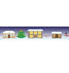 Seamless Christmas Street vector image vector image