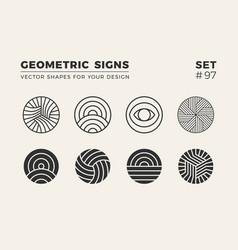 Set of eight minimalistic trendy shapes stylish vector
