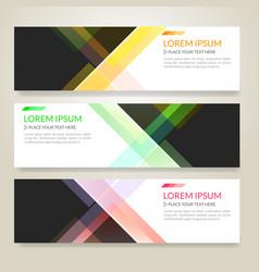 set of horizon abstract colorful display banner vector image