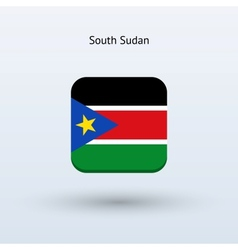 South Sudan flag icon vector image