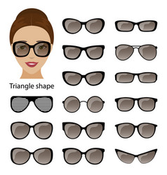Spectacle frames and triangular face vector