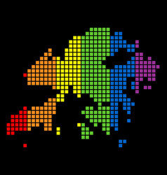 Spectrum dotted lgbt hong kong map vector