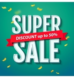 Super Sale inscription on the blue background vector image