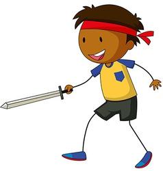 Sword fight vector image
