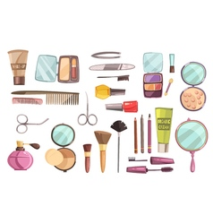 Top Cosmetics Set vector image