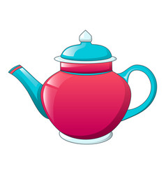 traditional tea pot icon cartoon style vector image