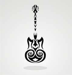 Tribal Guitar vector image