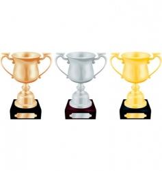 Trophy cups vector