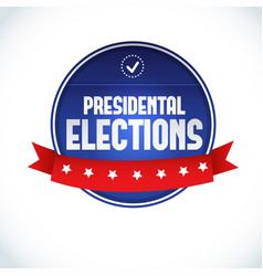 Usa presidential election lable vector