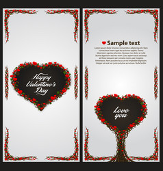 valentines heart tree card vector image