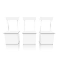 various angles blank white promotion stand vector image