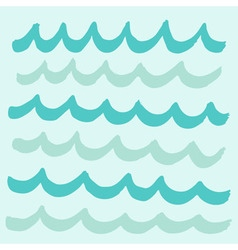 wave pattern background vector image