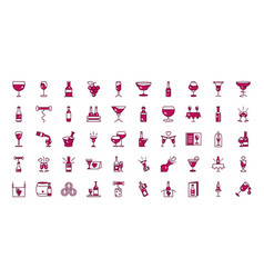 wine celebration drink beverage party event icons vector image