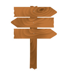 wooden planks sign vector image