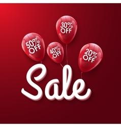 Baloons discount sale concept for shop market vector