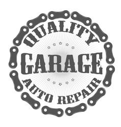 garage auto vector image