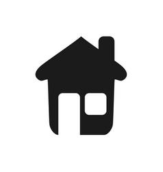 nice house with window and door vector image