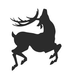 simple black silhouette of jumping deer on the vector image vector image