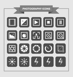 simple photography icons vector image